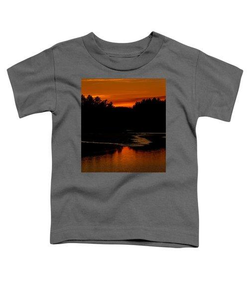 Presumpscot Sunset No.101 Toddler T-Shirt by Mark Myhaver