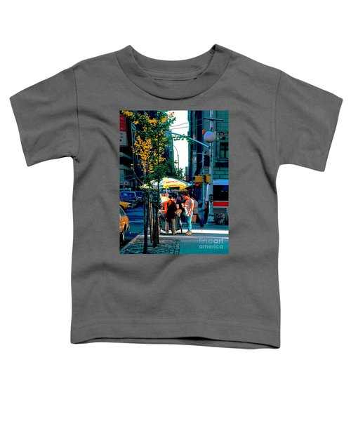 Hot Dog Stand Nyc Late Afternoon Ik Toddler T-Shirt