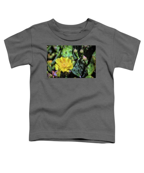 Prickly Pear Cactus Flower On Assateague Island Toddler T-Shirt