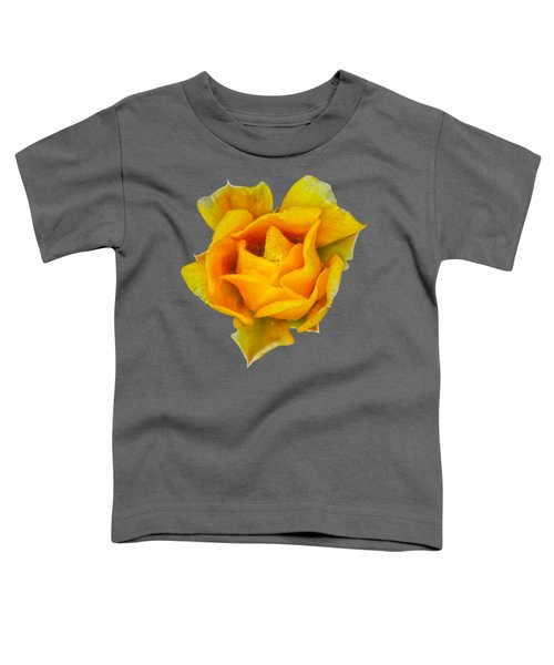 Prickly Pear Flower H11 Toddler T-Shirt by Mark Myhaver