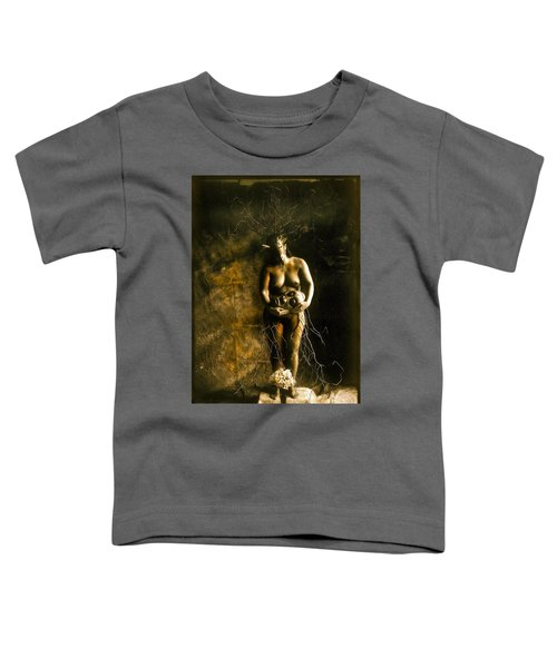 Primitive Woman Holding Mask Toddler T-Shirt