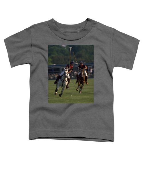 Prince Charles Playing Polo Toddler T-Shirt
