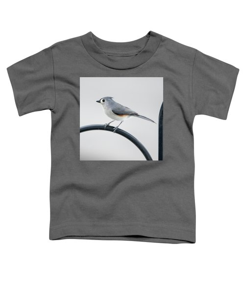 Profile Of A Tufted Titmouse Toddler T-Shirt