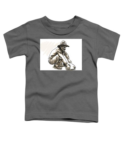 Toddler T-Shirt featuring the digital art Prospector by Antonio Romero