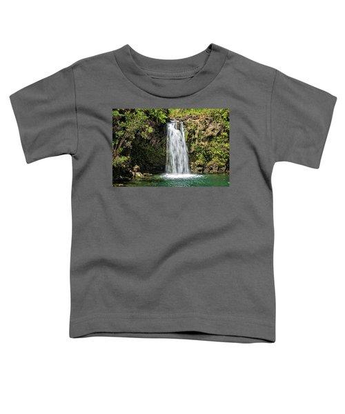 Toddler T-Shirt featuring the photograph Pua'a Ka'a Falls by Jim Thompson
