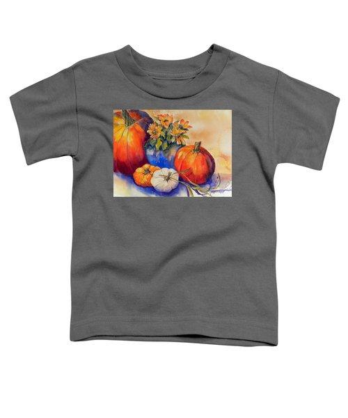 Pumpkins And Blue Vase Toddler T-Shirt