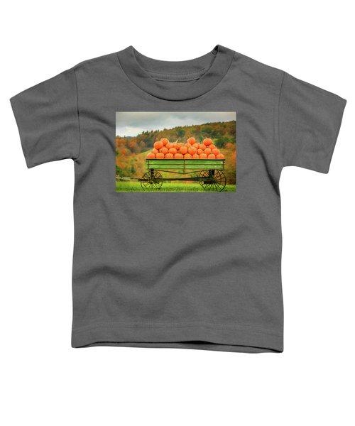 Pumpkins On A Wagon Toddler T-Shirt