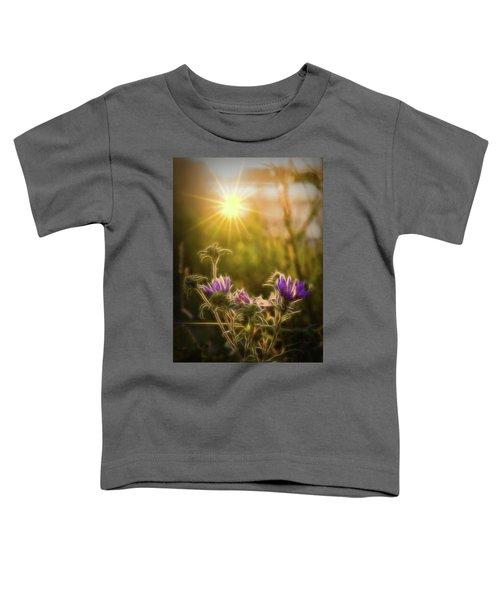 Purple Aster Glow Toddler T-Shirt