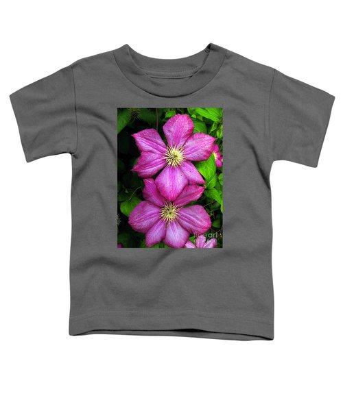 Purple Clematis 2 Toddler T-Shirt