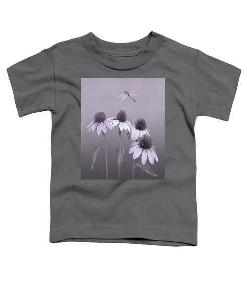 Purple Coneflowers And Dragonfly Toddler T-Shirt