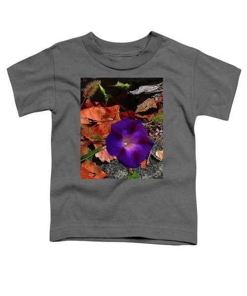 Purple Flower Autumn Leaves Toddler T-Shirt