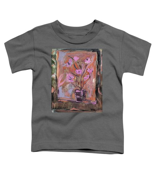 Purple Flowers In Vase Toddler T-Shirt