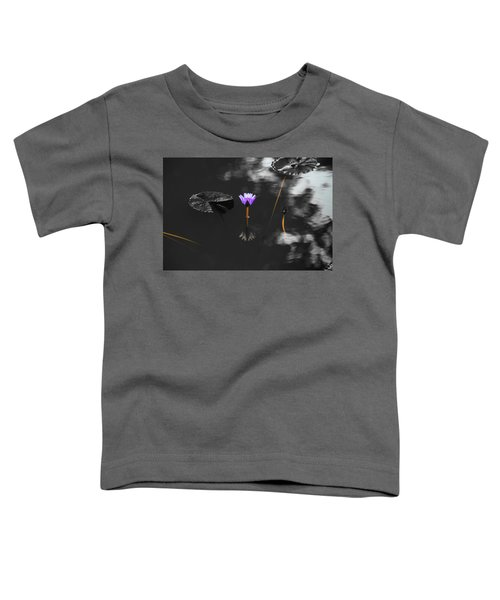Purple Lily In Black And White Toddler T-Shirt