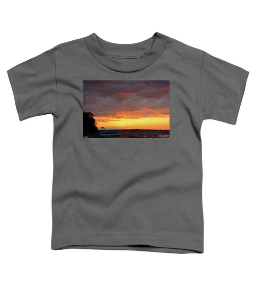 Purple Martin Sunset On Lake Murray Sc Toddler T-Shirt