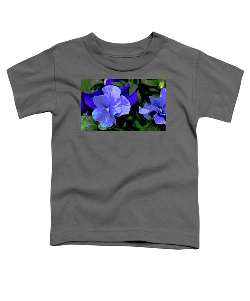 Purple Pansy Posterized Toddler T-Shirt