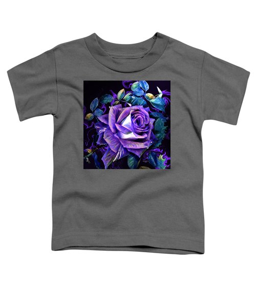 Purple Rose Bud Painting Toddler T-Shirt