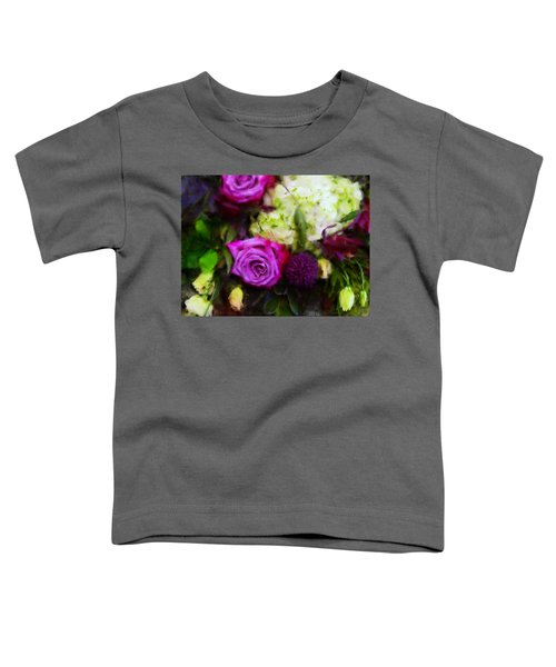 Purple Roses With Hydrangea Toddler T-Shirt