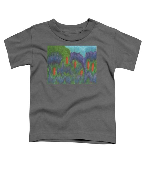 Purple Strife And Cattails Toddler T-Shirt