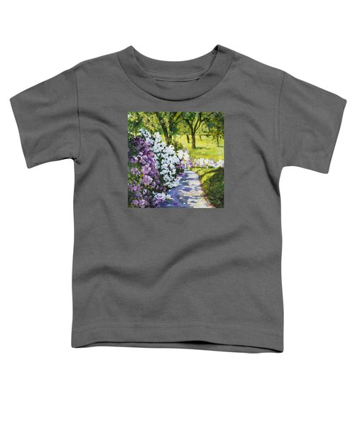 Purple White Toddler T-Shirt