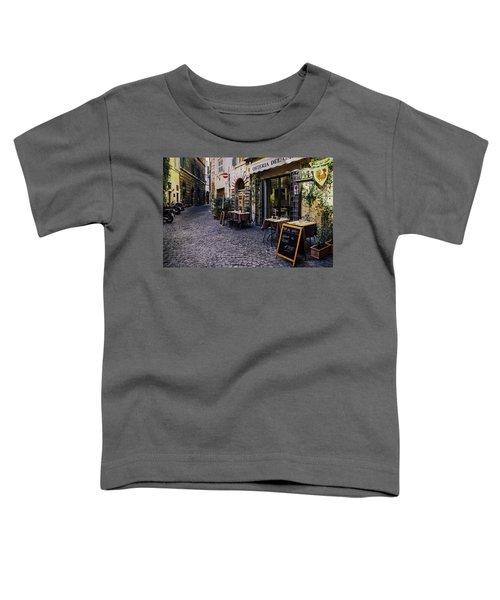 Quaint Cobblestones Streets In Rome, Italy Toddler T-Shirt