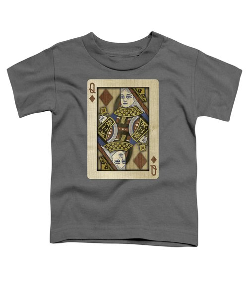 Queen Of Diamonds In Wood Toddler T-Shirt by YoPedro
