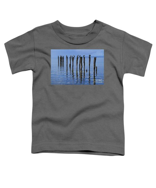 Toddler T-Shirt featuring the photograph Queue Reflected by Stephen Mitchell