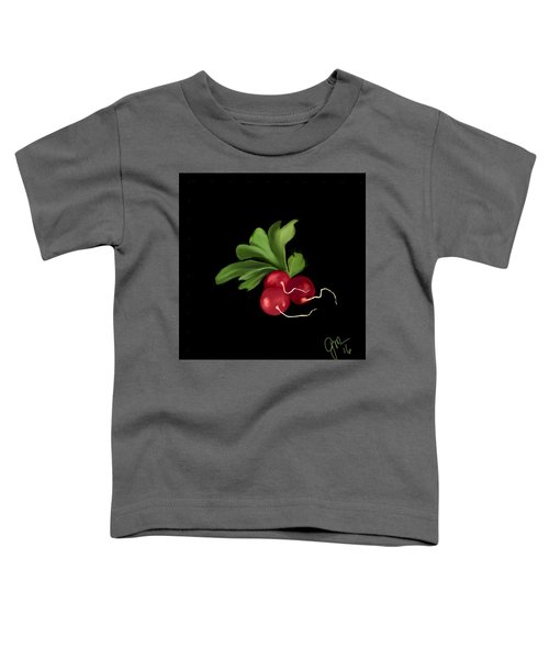 Toddler T-Shirt featuring the digital art Radishes by Gerry Morgan