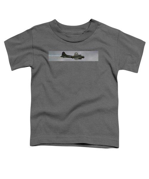 Raf Scampton 2017 - B-17 Flying Fortress Sally B Smoke Toddler T-Shirt