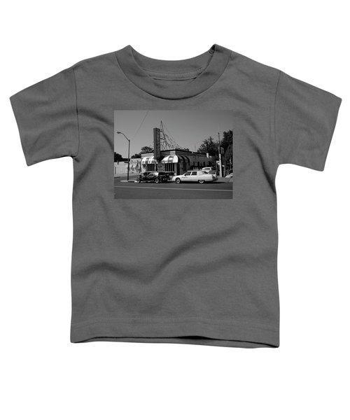 Toddler T-Shirt featuring the photograph Raifords Disco Memphis A Bw by Mark Czerniec