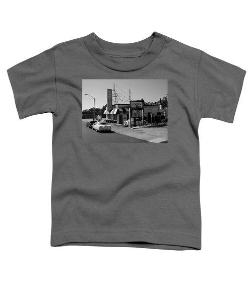 Toddler T-Shirt featuring the photograph Raifords Disco Memphis B Bw by Mark Czerniec
