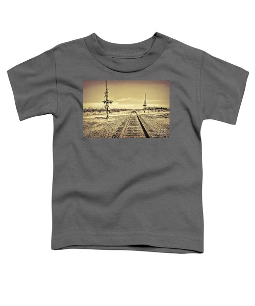 Railroad Crossing Textured Toddler T-Shirt