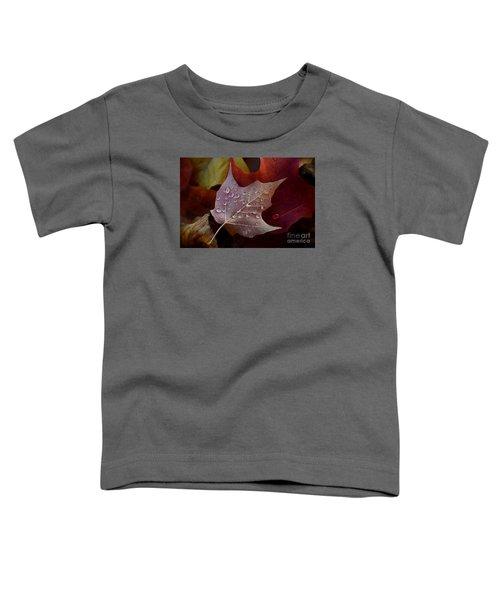 Rain Droplets On Leaf Toddler T-Shirt