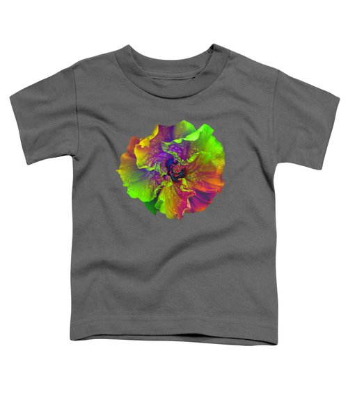 Rainbow Hibiscus Toddler T-Shirt
