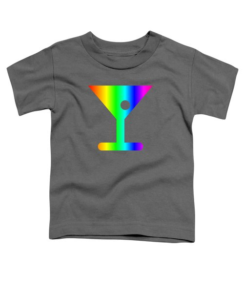 Rainbow Martini Glass Toddler T-Shirt by Frederick Holiday
