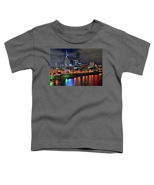 Rainbow On The River Toddler T-Shirt by Frozen in Time Fine Art Photography