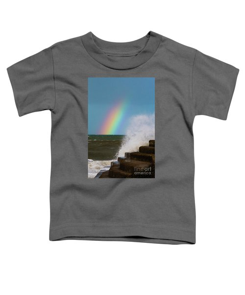 Rainbow Over The Crashing Waves Toddler T-Shirt