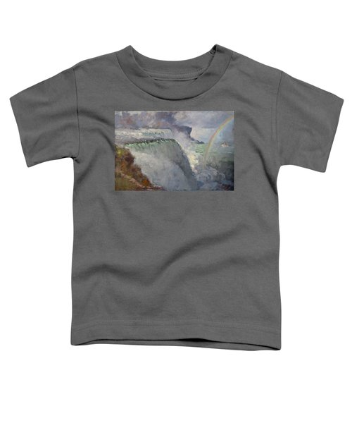 Rainbow Over The Falls Toddler T-Shirt