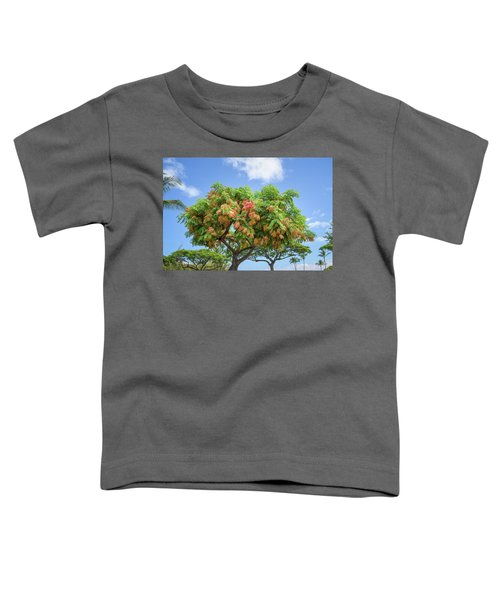 Toddler T-Shirt featuring the photograph Rainbow Shower Tree 1 by Jim Thompson