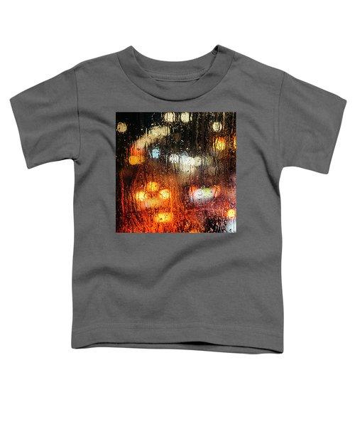 Raindrops On Street Window Toddler T-Shirt