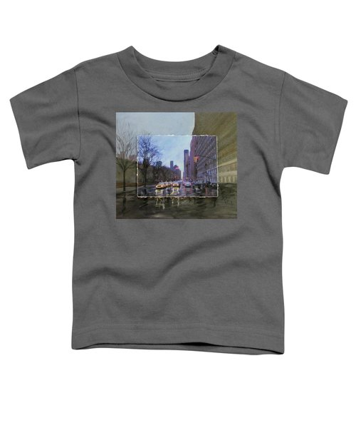 Rainy City Street Layered Toddler T-Shirt