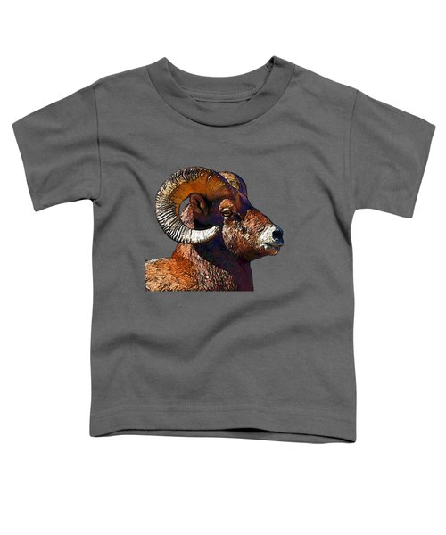 Ram Portrait - Rocky Mountain Bighorn Sheep By Olena Art Toddler T-Shirt