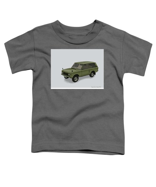 Toddler T-Shirt featuring the mixed media Range Rover Classical 1970 by TortureLord Art