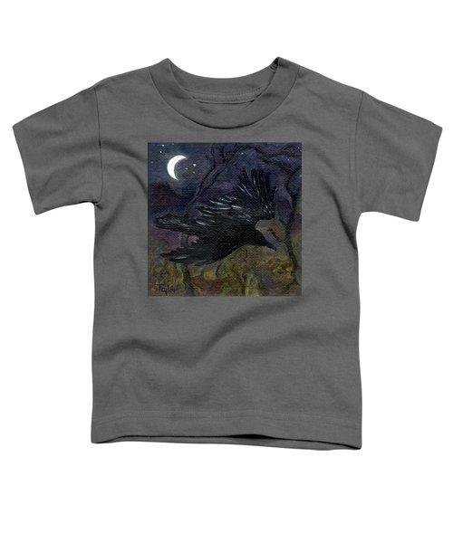 Raven In Stars Toddler T-Shirt