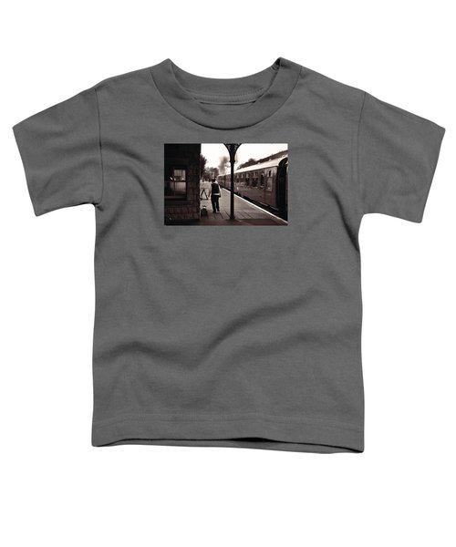 Ready To Depart Corfe Castle Station Toddler T-Shirt by Nop Briex