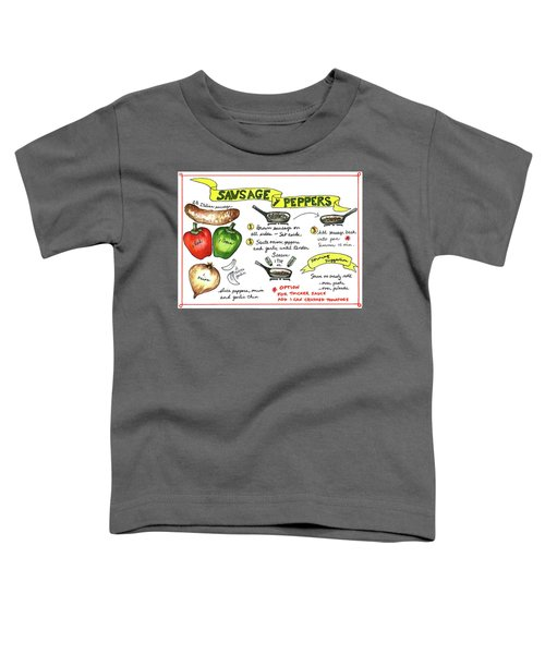 Recipe Sausage And Peppers Toddler T-Shirt