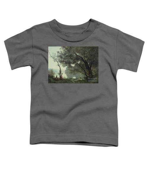 Recollections Of Mortefontaine Toddler T-Shirt by Jean Baptiste Corot