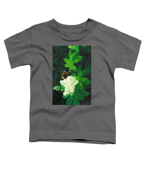 Red Admiral On Spirea Toddler T-Shirt