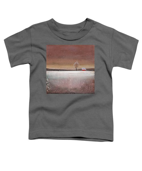 Red Barn In Snow Toddler T-Shirt