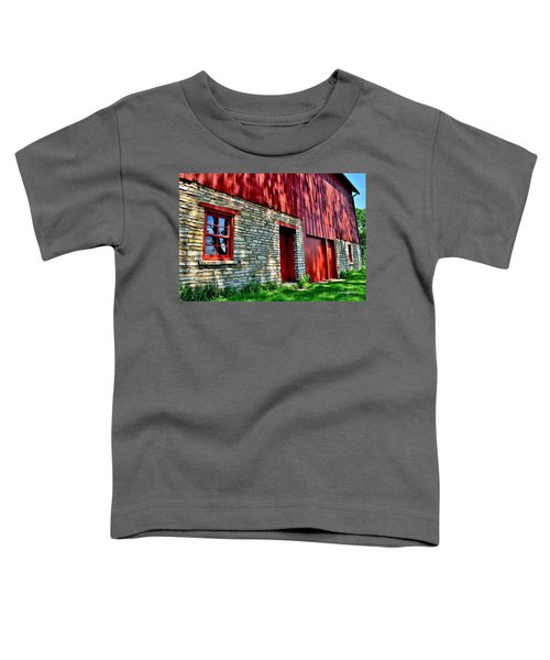 Red Barn In The Shade Toddler T-Shirt
