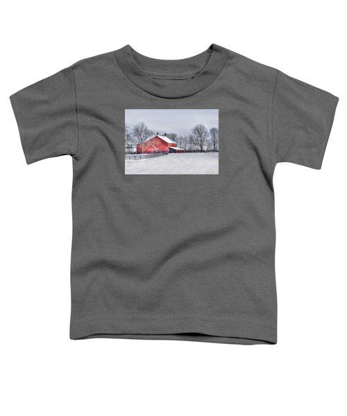 Red Barn Winter Toddler T-Shirt